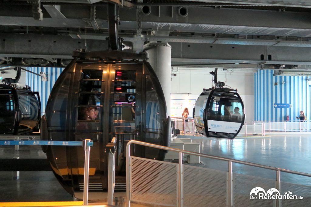 Kabine der Singapur Cable Cars