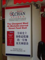 Street Food mit Michelin Stern in Singapur