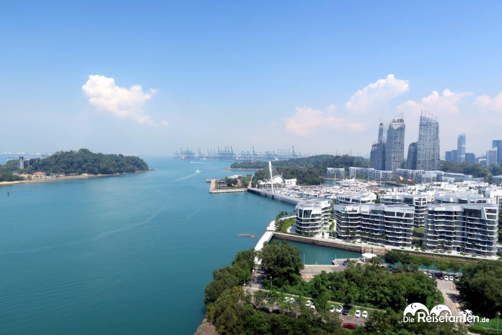 Überfahrt mit den Singapur Cable Cars
