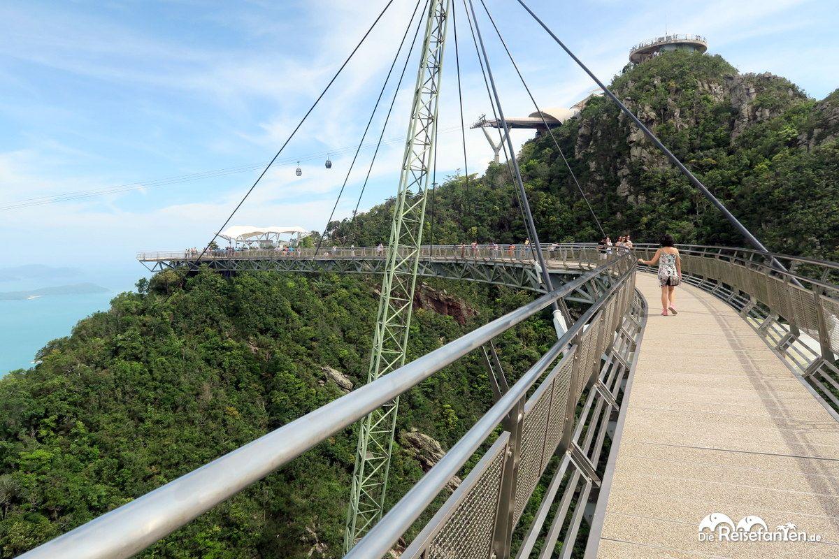 Blick über die Skybridge auf Langkawi
