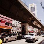 Eine Hochstraße in Kuala Lumpur