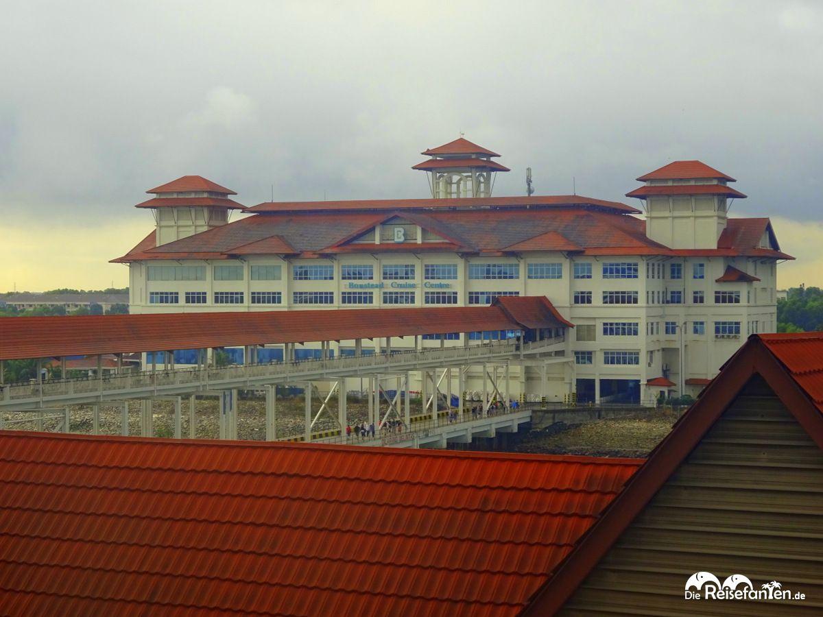 Terminalgebäude in Port Klang in Malaysia