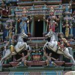 Verzierungen am Sri Kandaswamy Tempel in Kuala Lumpur