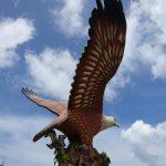 Blick auf die Adlerstatue in Kuah auf Langkawi
