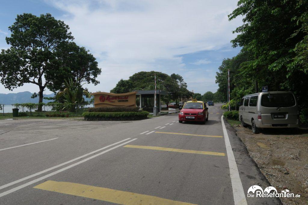 Zugang zum Kreuzfahrtsteg von Langkawi