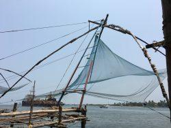 Die chinesischen Fischernetze in Cochin