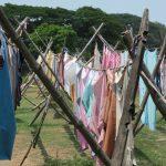 Frisch gewaschene Wäsche in Cochin