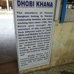 Infotafel zum Waschhaus in Cochin