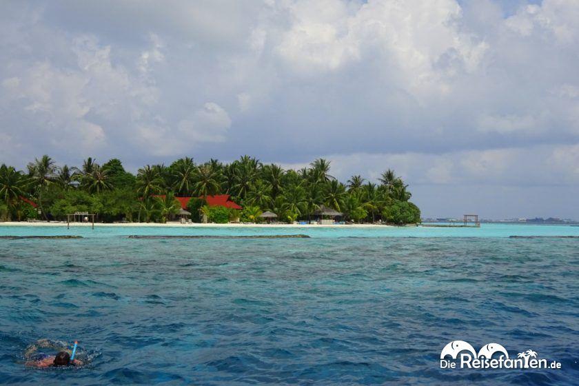 Schnorchelstelle während der Schnorchel Safari auf den Malediven