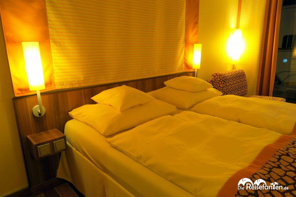 Das Doppelbett auf der AIDAbella