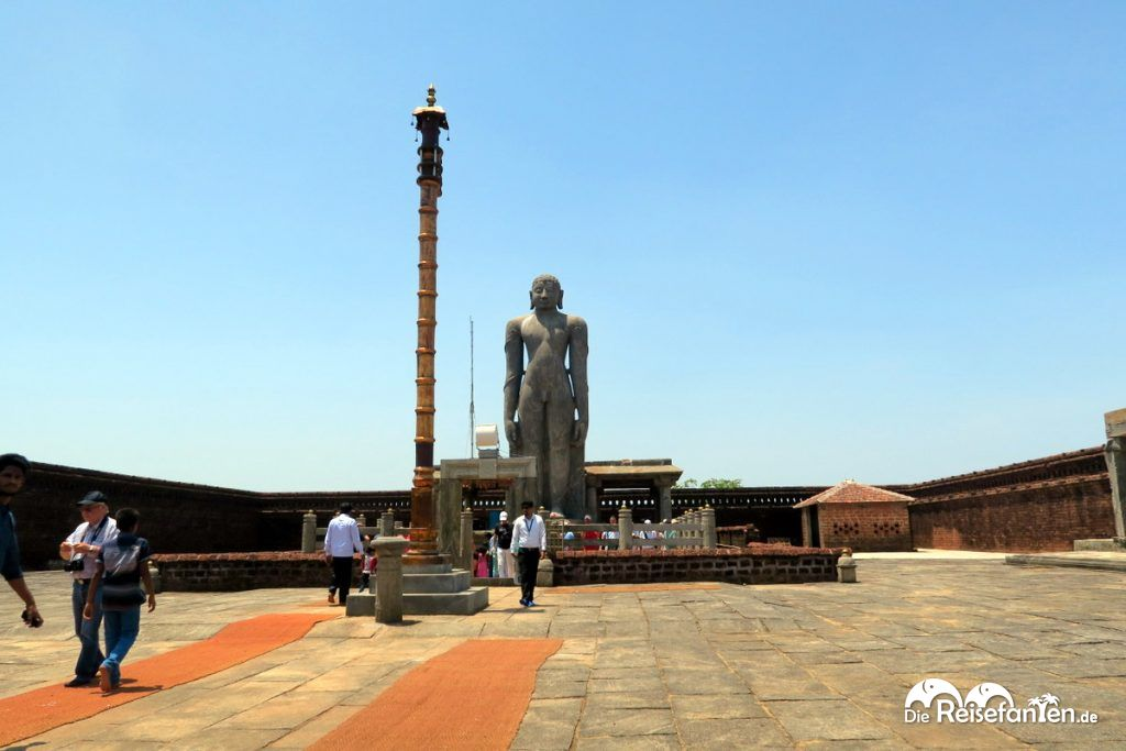 Die Statue von Bhagavan Shri nahe Karkala in Indien