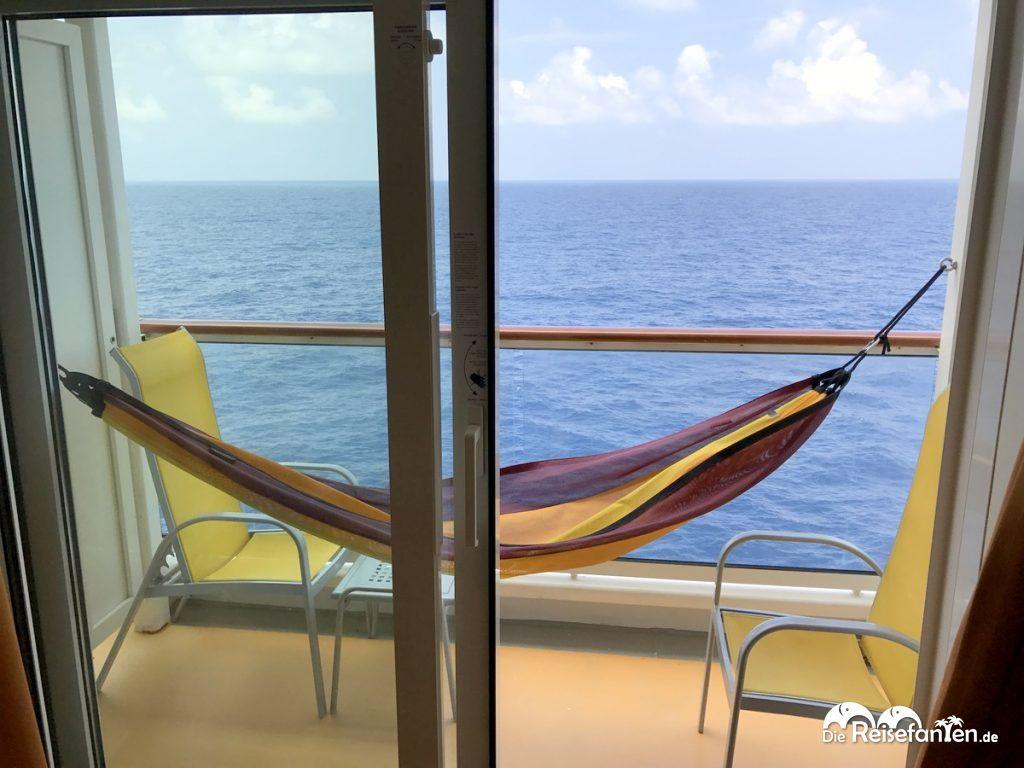 Unser Balkon auf der AIDAbella