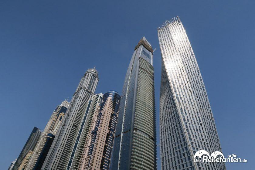 Beeindruckende Wolkenkratzer in Dubai