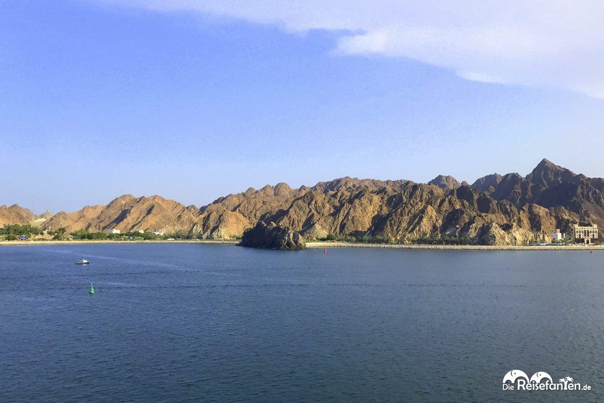 Blick auf den Oman von der AIDAbella