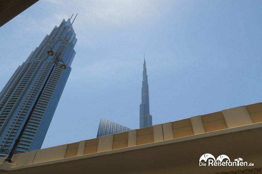 Der Burj Khalifa aus der Ferne