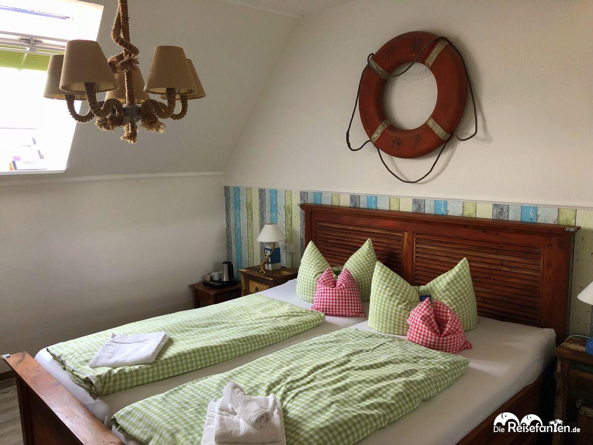 Doppelzimmer im Hotel Garni Bootshaus