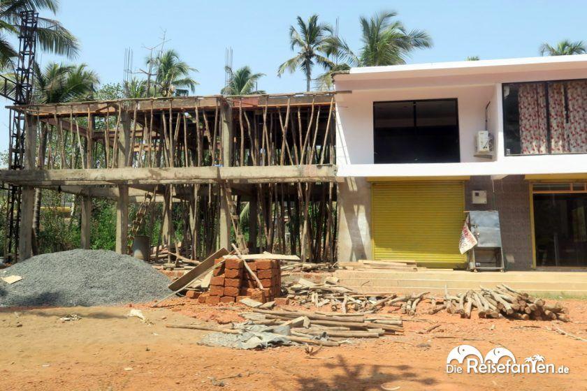 Ein Neubau in Indien