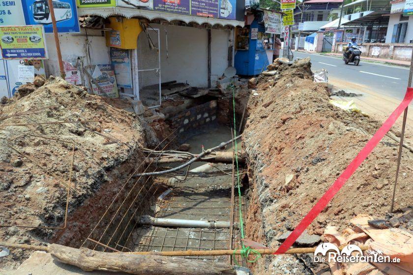 Eine Baustelle in Indien