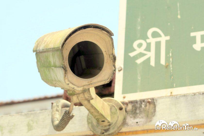 Eine leere Überwachungskamera in Indien