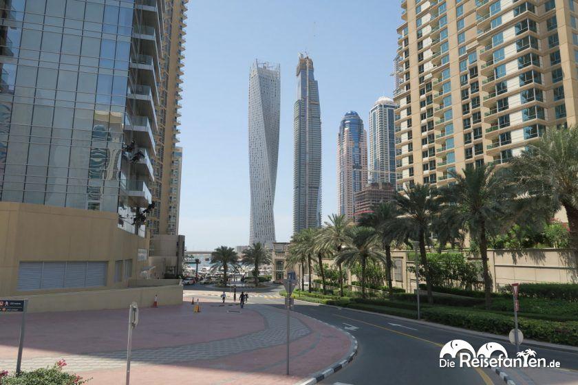 Hochhäuser am Hafen in Dubai