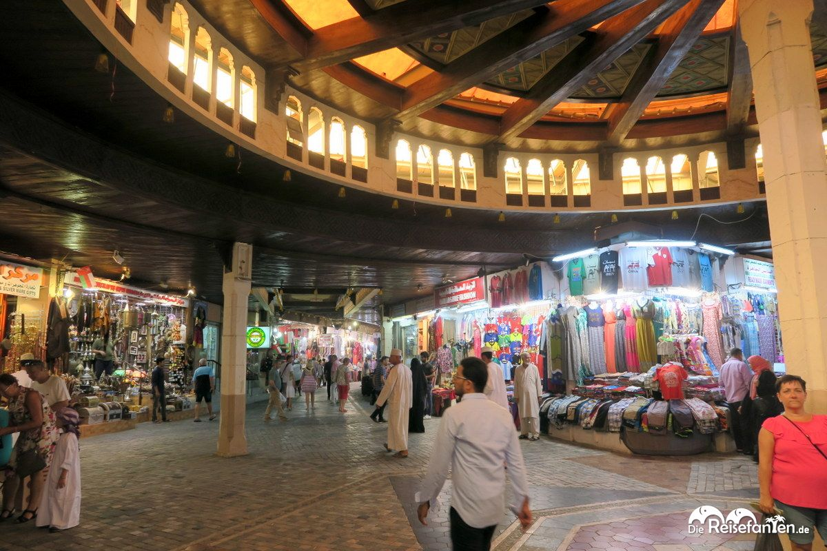 Im Inneren des Mutrah Souks in Muscat