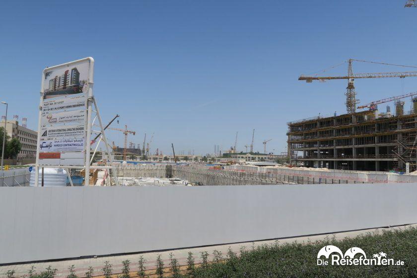 Riesige Baustellen in Dubai