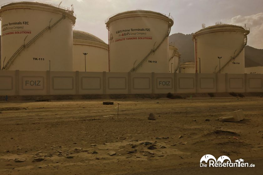 Erdöl im Hafen von Fujairah