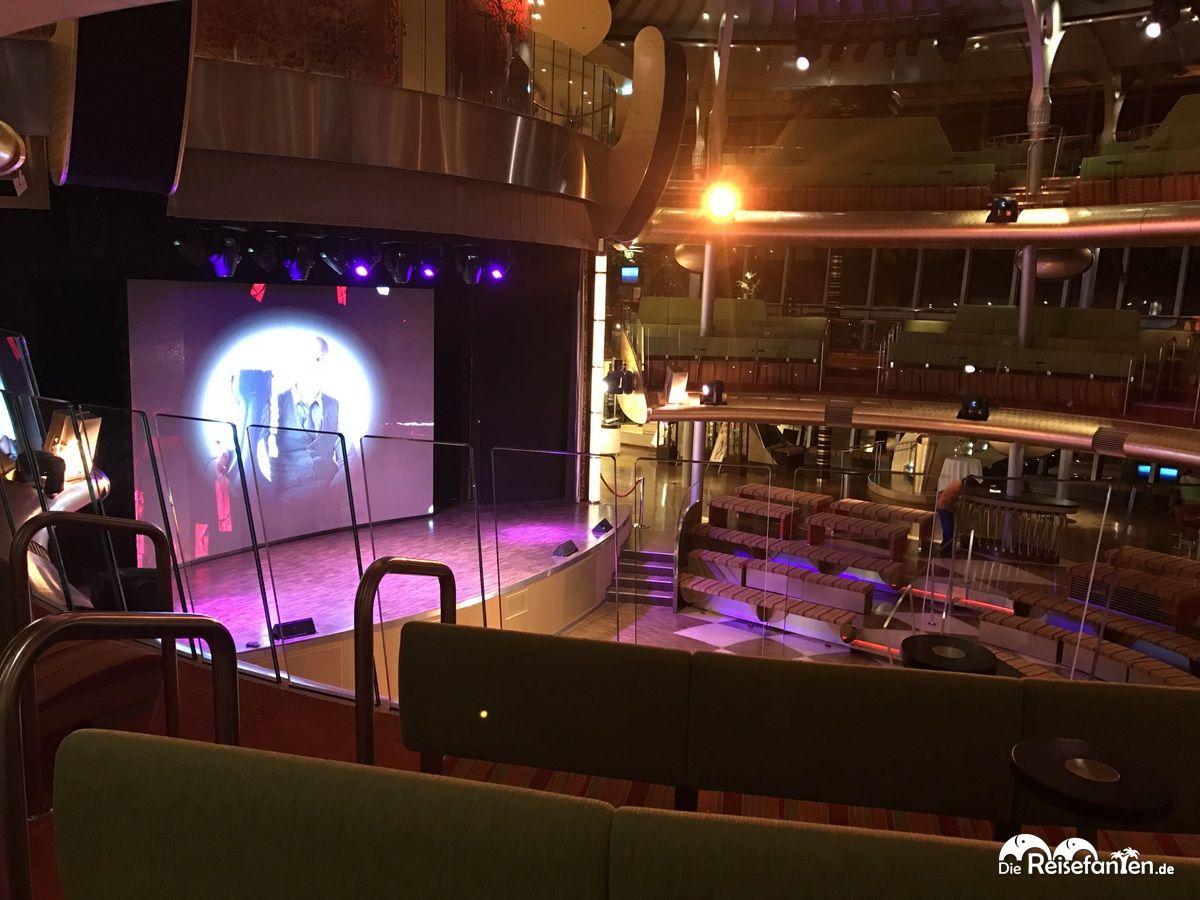 Bühnenbereich an Bord der AIDAbella