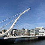 Die Samuel Beckett Bridge in Dublin