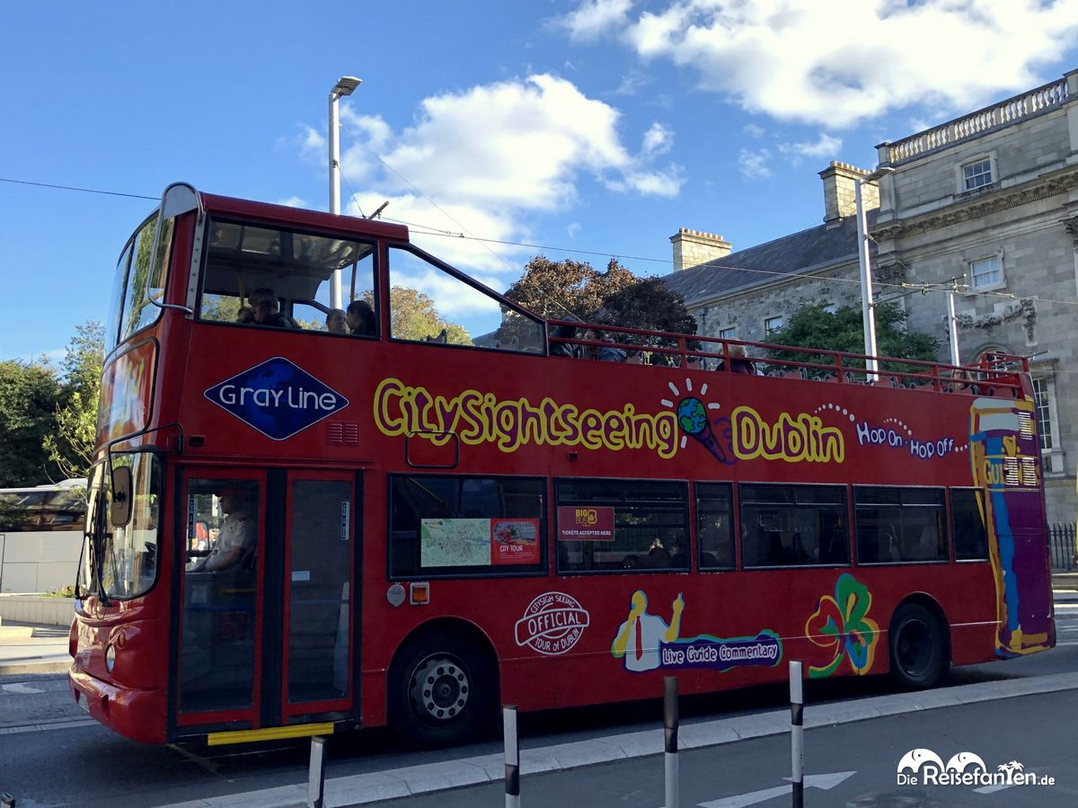 Ein Hop n Hop Off Bus von City Sightseeing Dublin