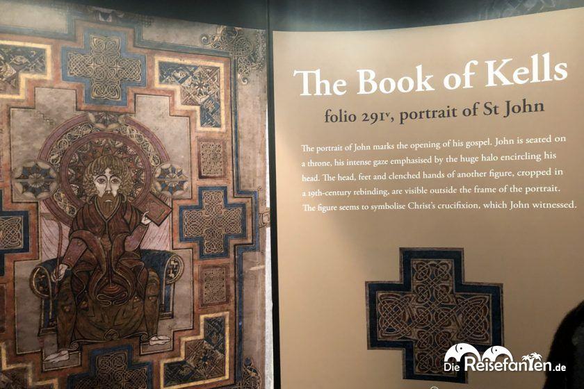 Das Book of Kells in der TrinityBibliothek