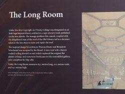 Informationstafel zum Long Room im Trinity College