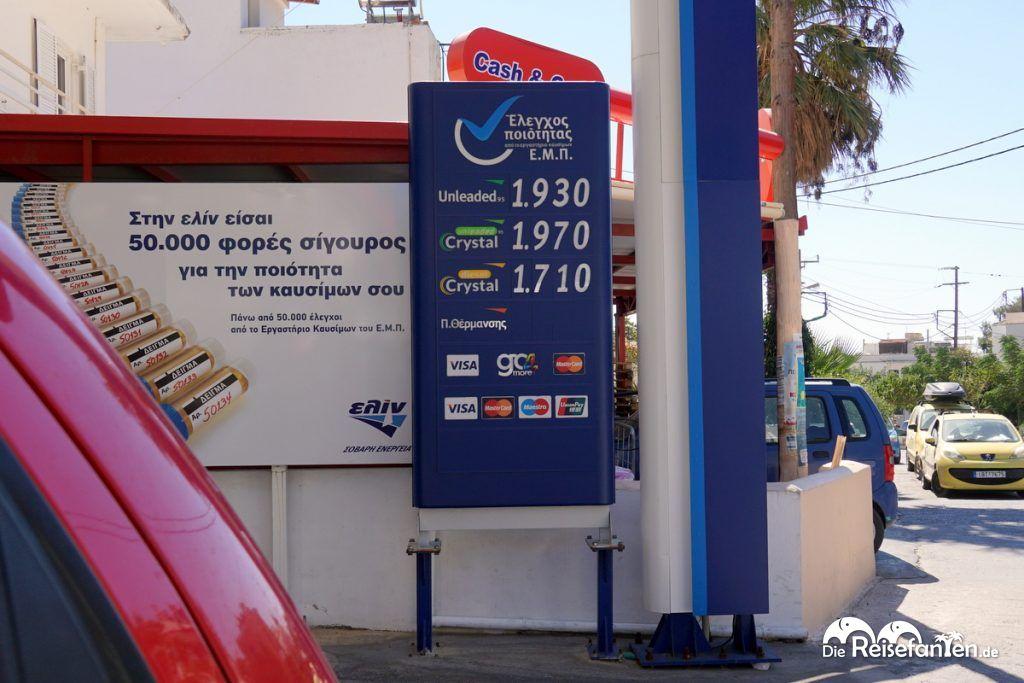 Spritpreise auf Ikaria