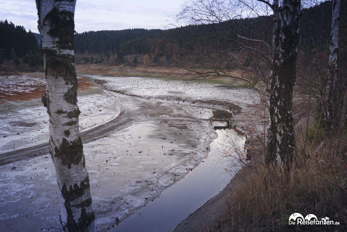 Die Okertalsperre führt sehr wenig Wasser