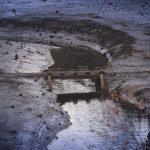 Selbst alte Brückenelemente treten in der Okertalsperre wieder zum Vorschein