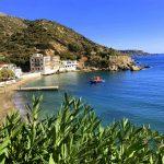 Blick auf die Ägäis vom Marina Hotel in Therma auf Ikaria