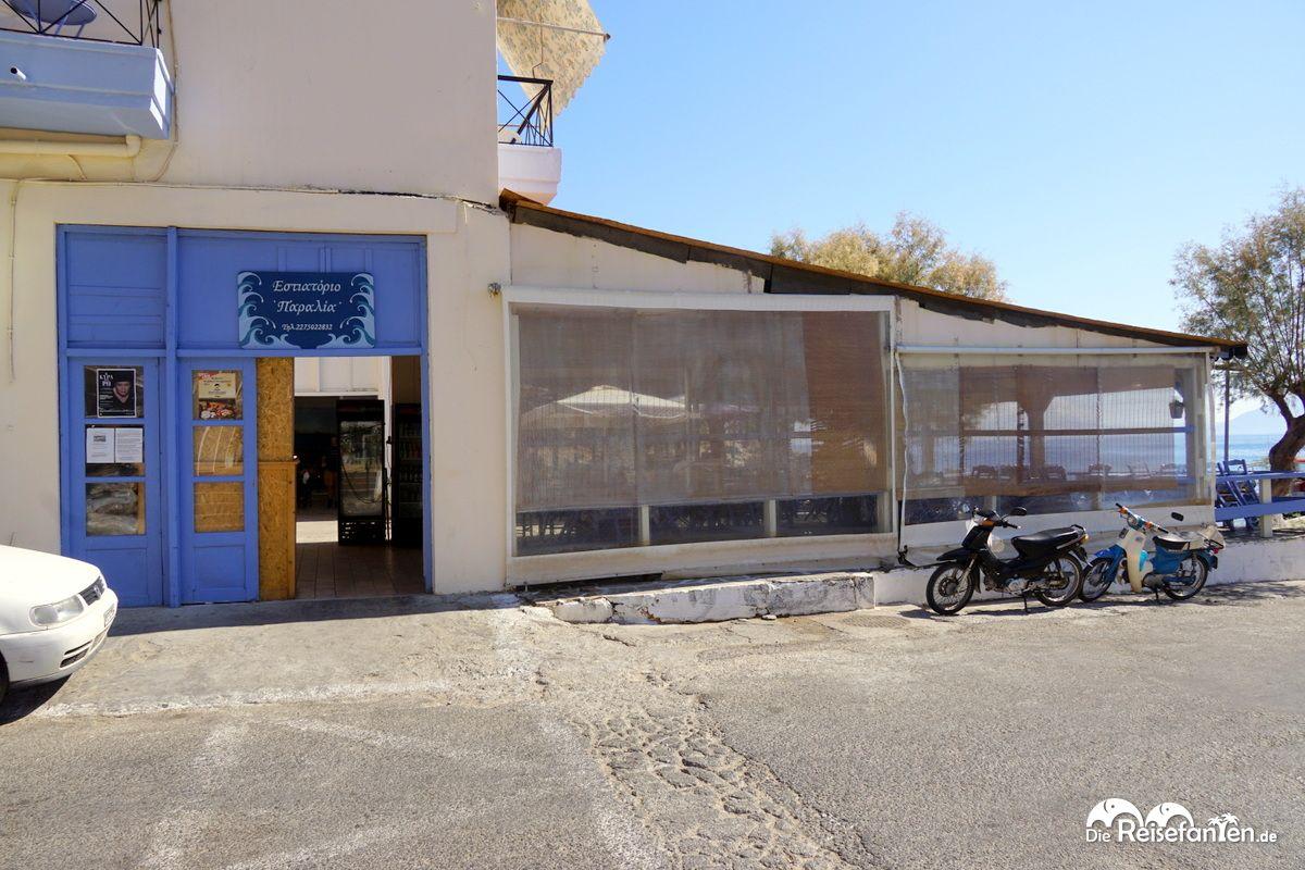 Das Restaurant Kafeneio in Therma auf Ikaria von außen