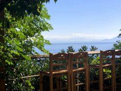 Frühstücksblick im Marina Hotel in Therma auf Ikaria