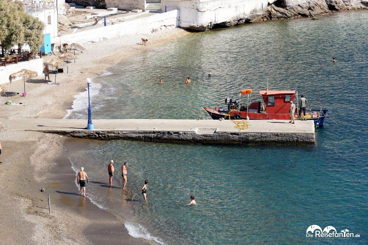 Kleiner Anleger in Therma auf Ikaria