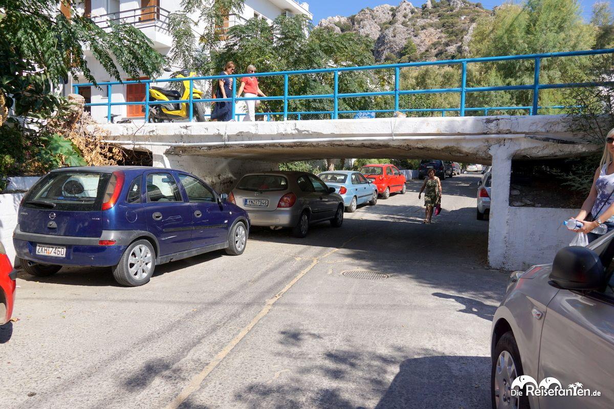 Tiefe Brücke in Therma auf Ikaria