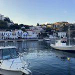 Blick auf den Hafen von Evdilos auf Ikaria