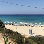 Blick auf den Strand von Raches auf Ikaria