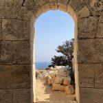 Blick durch den Drakano Turm auf Ikaria