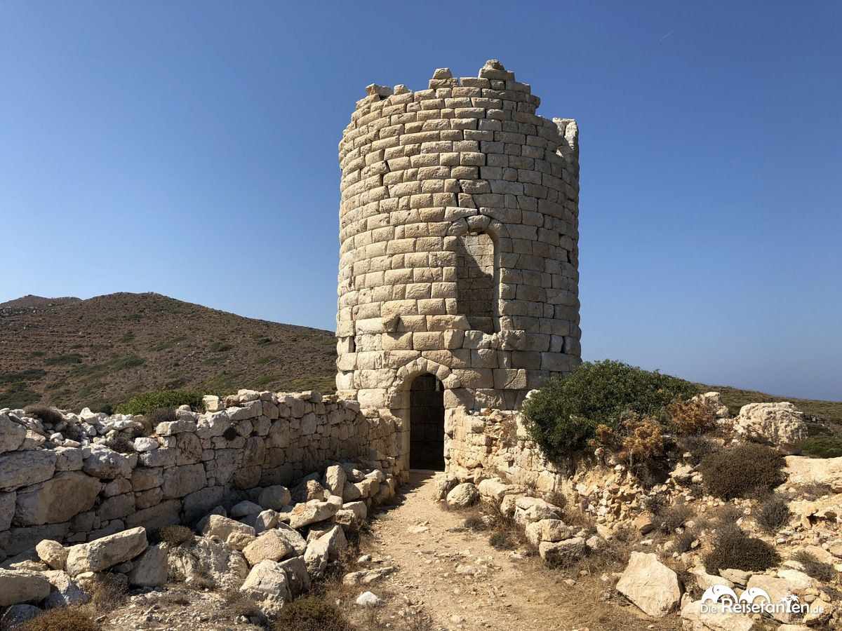 Der Drakano Turm auf Ikaria ist gut erhalten