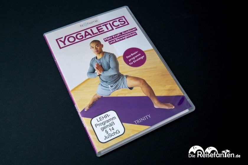 Die DVD mit dem Basisprogramm von Yogaletics