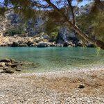 Klares Wasser am Iero Beach auf Ikaria