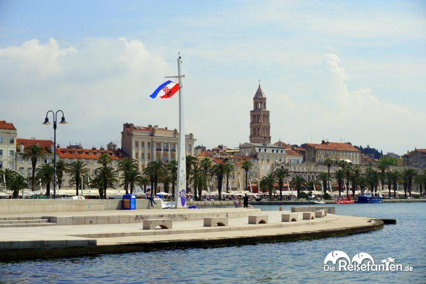 Blick auf die Promenade von Split