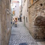 Die verwinkelte Altstadt von Trogir