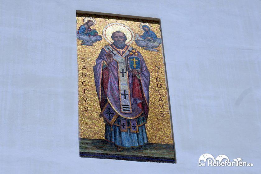 Mosaik des Nikolaus in Bari