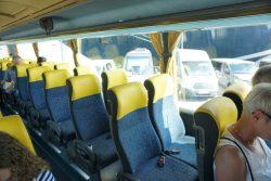 Im Reisebus der Panoramafahrt von Istranka